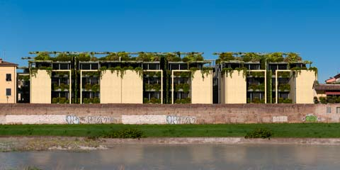 Santa Teresa: urban housing development in Parma - riverside view