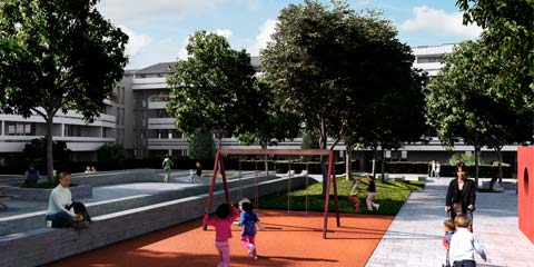 urban housing development park in Trieste - image02