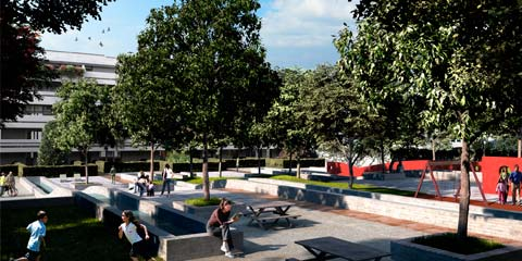 urban housing development park in Trieste - image03